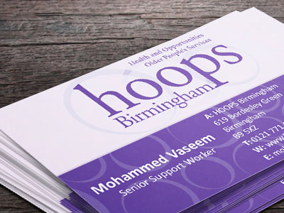 Hoops business card