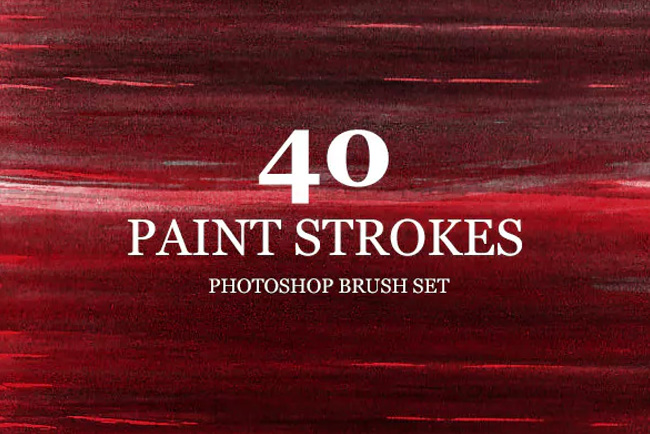 40 High Res Paint strokes Brushes