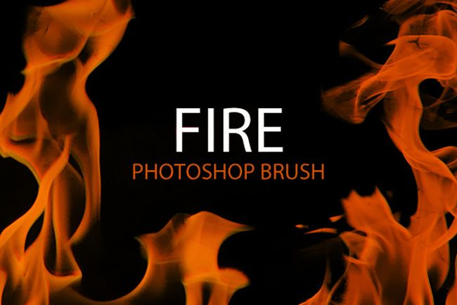10 Fire Flames Photoshop Brush