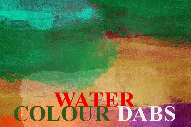 Watercolor Paint Dabs Photoshop Brush Set