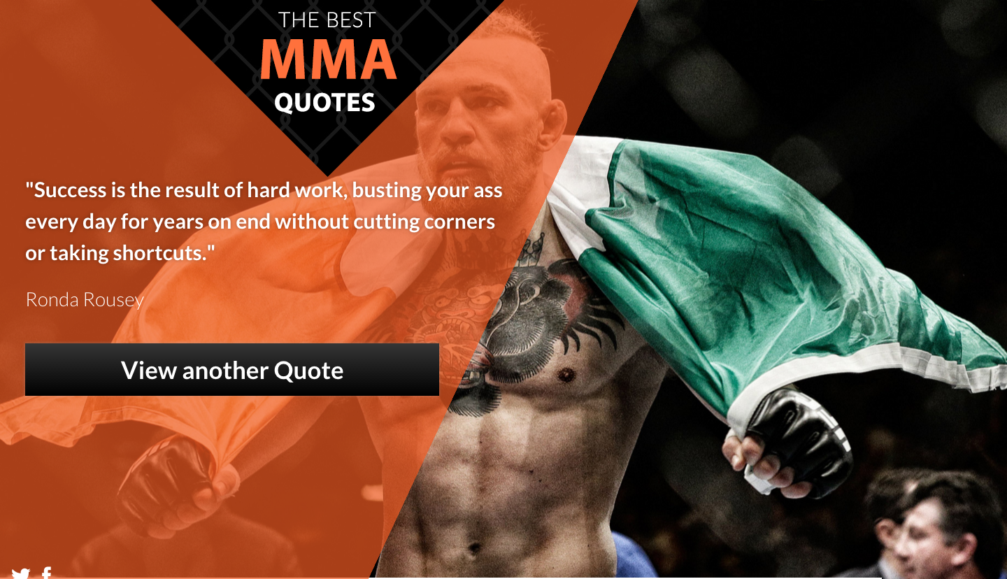 Mma Quotes New Site The Best Mma Quotes My Latest Web Project  Timothy Blake